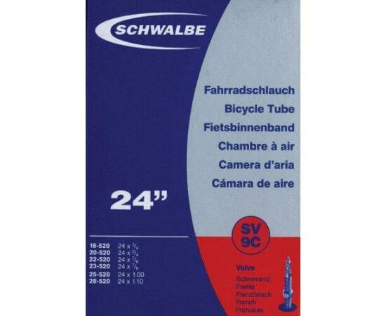 Schwalbe SV9C 24 x 0,75-1,1 (20/28-520) belső gumi 34 mm hosszú szeleppel, presta