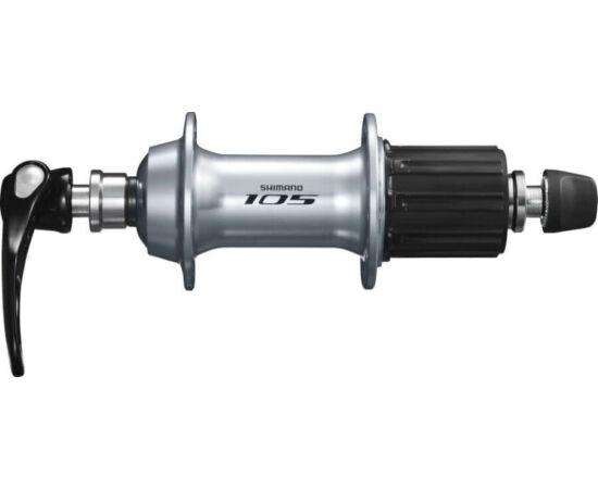 Shimano 105 FH-5800 országúti hátsó kerékagy, 32H, gyorszáras, 11-es kazettás lánckeréksorhoz, ezüst színű