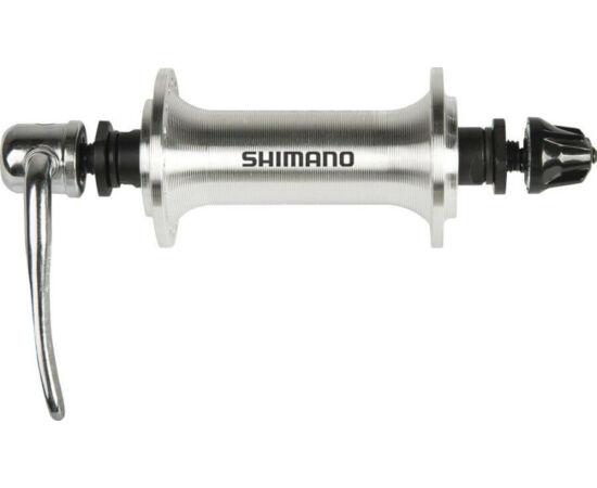 Shimano Tourney HB-TX800 trekking első kerékagy, 36H, gyorszáras, ezüst színű