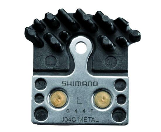 Shimano J02A Ice-Tech hűtőbordás tárcsafék betét, XTR, XT, SLX-hez, alu alap, organikus pofa