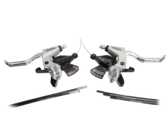 Shimano Altus ST-M310 fékváltókar és bowden szett - 2 ujjas fékkarokkal - 3x8-as ezüst