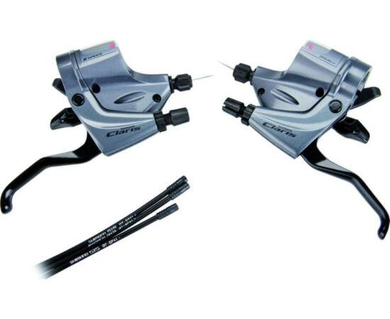 Shimano Claris ST-R240 országúti fék-váltókar szett (bal, jobb és bowdenek) egyenes kormányhoz, 3x8s
