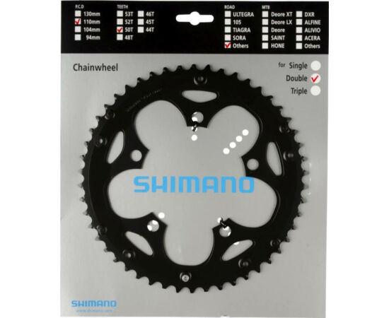 Shimano Claris FC-2350 országúti első lánckerék, 50T, 8s, 110 mm, alumínium, fekete