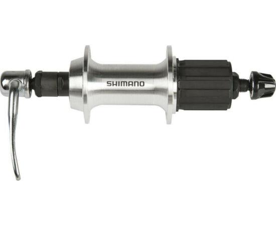 Shimano Tourney HB-TX800 trekking hátsó kerékagy, 36H, gyorszáras, ezüst színű
