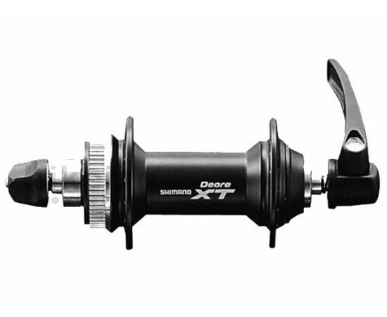 Shimano XT HB-M775 MTB első kerékagy, 36H, gyorszáras, tárcsafékes (Centerlock), fekete