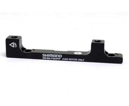 Shimano tárcsafék adapter, első, PM-PM203, alumínium, fekete