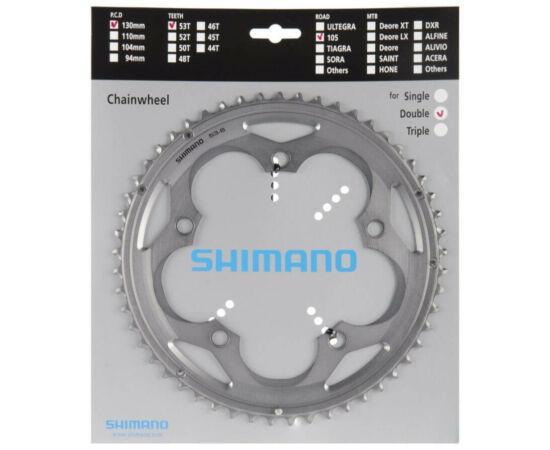 Shimano 105 FC-5700S országúti lánckerék, 53T, 10s, 130 mm, alumínium, ezüst színű