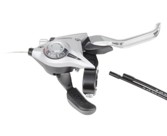 Shimano Tourney ST-EF51 fék-váltókar, csak jobb, 8-as, ezüst