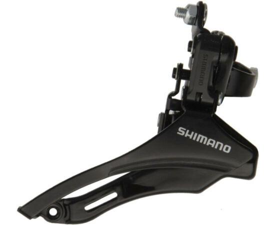 Shimano Tourney TZ-31 alul húzós első váltó 48T, 28,6mm bilinccsel, 3x6-7s, fekete
