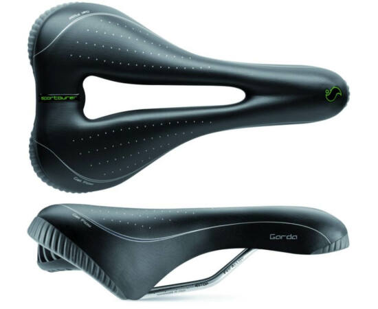 Sportourer Garda Gel Flow férfi komfort nyereg, 270 x 165 mm, 550 g, fekete