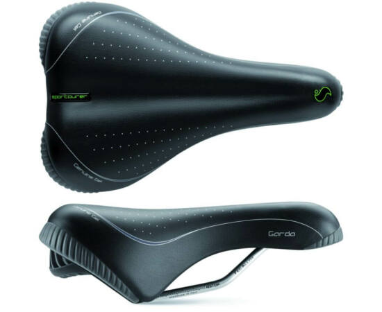 Sportourer Garda Gel női komfort nyereg, 255 x 172 mm, 560 g, fekete