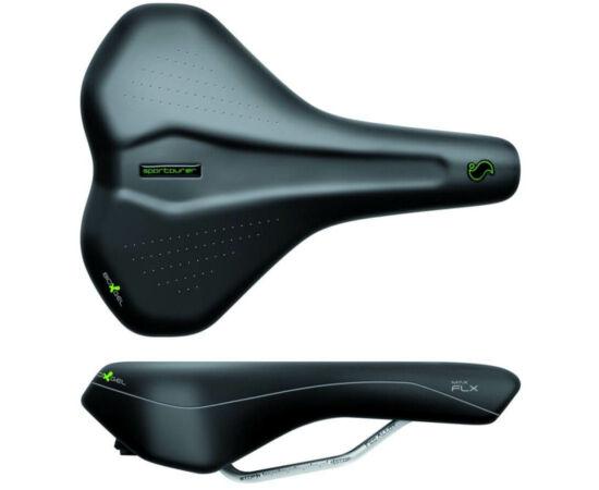 Sportourer Max Flx unisex komfort nyereg, 269 x 205 mm, 475g, fekete