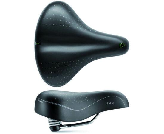 Sportourer Zeta Comfort Gel unisex komfort nyereg, 258 x 233 mm, 720 g, fekete