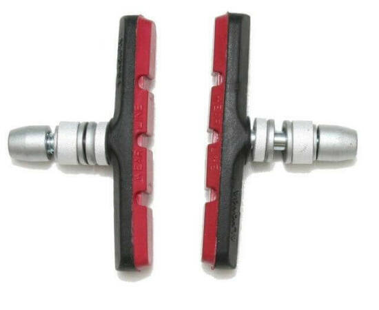 Spyral Analogue menetes fékpofa, 70 mm-es, fekete-piros