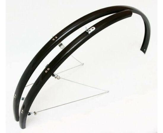 Spyral Analogue Road alu-plasztik országúti pálcás sárvédő, 28 mm, fekete
