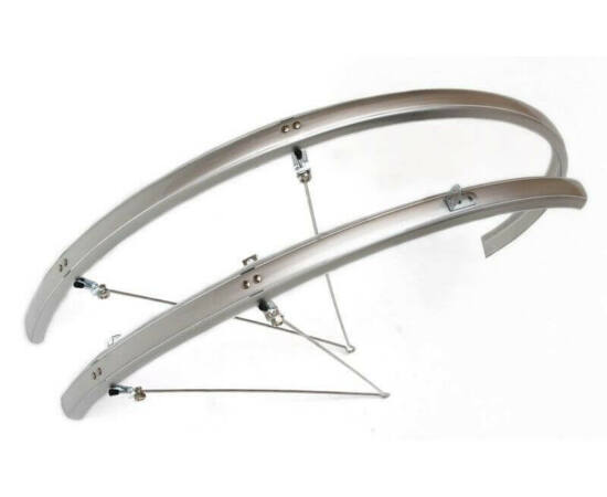 Spyral Analogue Road alu-plasztik országúti pálcás sárvédő, 28 mm, ezüst