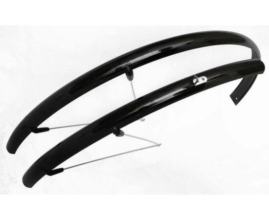 Spyral Basic Road Cobra alu-plasztik országúti/trekking pálcás sárvédő, 36mm, fekete