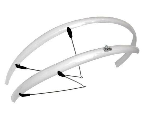 Spyral Basic Road Cobra alu-plasztik országúti/trekking pálcás sárvédő, 36mm, fehér