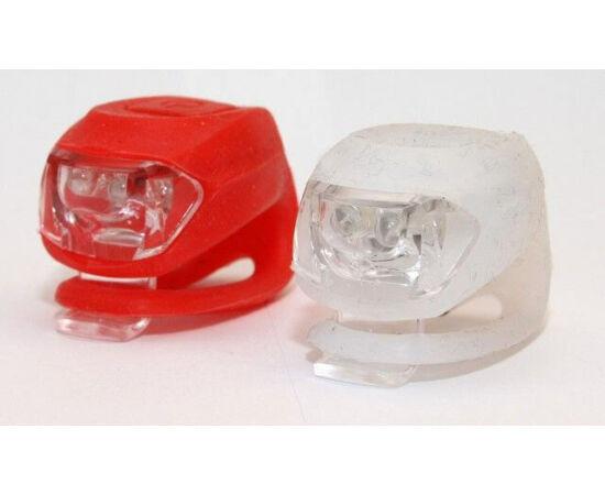 Spyral Botchy villogó lámpa szett (első + hátsó) 2 LED-es, fehér-piros