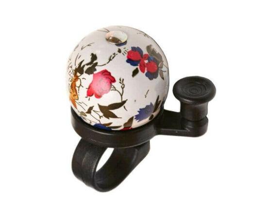 Velotech gömb alakú csengő, fehér-virágos