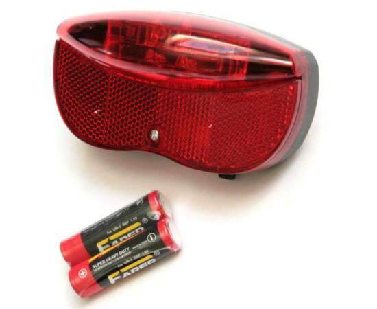 Spyral elemes 3 LED hátsó lámpa csomagtartóra, elemekkel