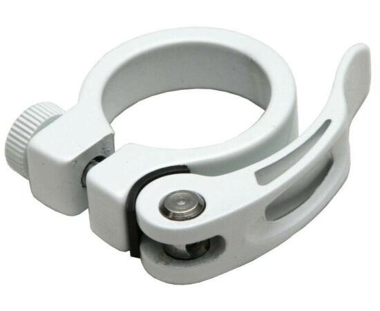 Spyral Analogue gyorszáras  nyeregcső bilincs, 34,9 mm, fehér