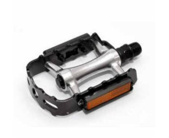 Spyral Speed acél keretes alu pedál, ipari siklócsapággyal, fekete-ezüst