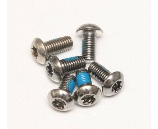 Spyral féktárcsa csavar szett, 6 db, T25, M5 x 10 mm, króm