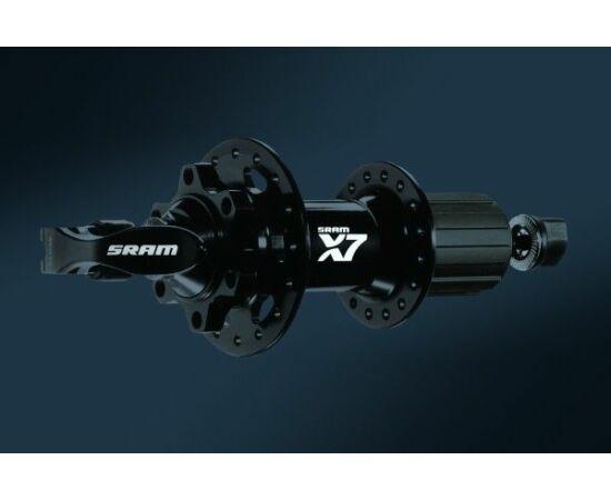 Sram X7 MTB hátsó kerékagy, 32H, tárcsafékes, gyorszáras, ipari csapágyas, fekete