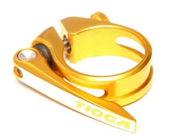 Tioga gyorszáras nyeregcső bilincs, 34,9 mm, arany színű