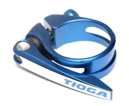 Tioga gyorszáras nyeregcső bilincs, 34,9 mm, kék