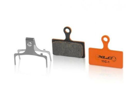 XLC BP-O11 tárcsafék fékbetét Shimano XTR és XT fékekhez, acél alap, organikus pofa, 1 pár
