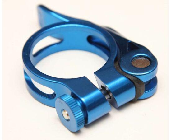 Venzo gyorszáras nyeregcső bilincs, Kék, 34,9 mm
