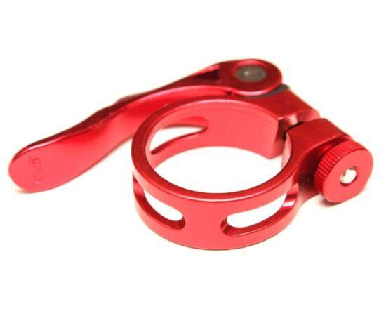 Venzo gyorszáras nyeregcső bilincs, Piros, 31,8 mm