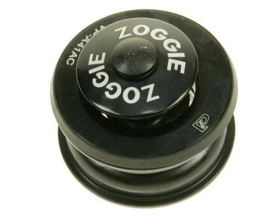 Zoggie MTB 1 1/8 colos A-Head félintegrált kormánycsapágy, acél csészés, golyóskosaras, tömített, fekete