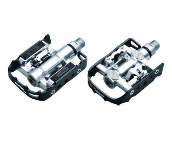 Zoggie kombinált (alu keretes és SPD patent) pedál, fekete-ezüst