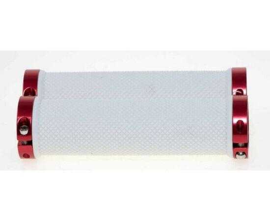 Zoggie bilincses markolat, 120 mm, fehér, piros bilinccsel