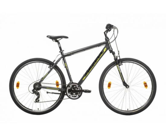 Gepida Alboin 200 CRS alu 28-as férfi cross kerékpár, 21s, 56 cm, szürke-sárga