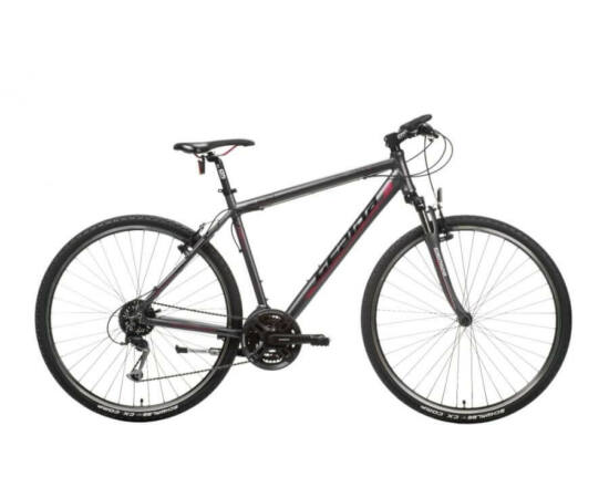 Gepida Alboin 300 CRS alu 28-as férfi cross kerékpár, 24s, 56 cm, szürke-piros
