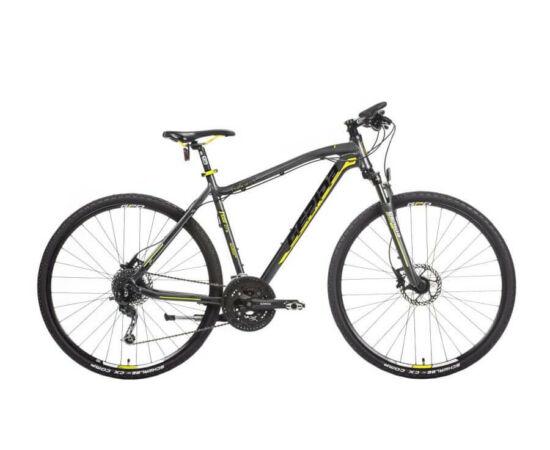 Gepida Alboin 500 CRS alu 28-as férfi cross kerékpár, 27s, 56 cm, fekete-sárga