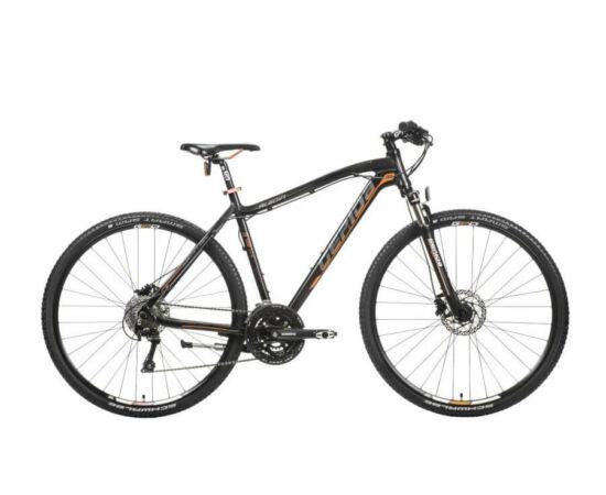 Gepida Alboin 700 CRS alu 28-as férfi cross kerékpár, 30s, 56 cm, fekete-szürke-narancs