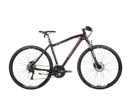 Gepida Alboin 700 CRS alu 28-as férfi cross kerékpár, 30s, 52 cm, fekete-szürke-piros