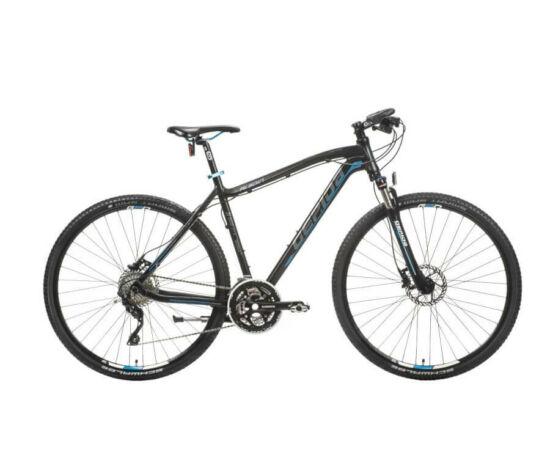 Gepida Alboin 900 CRS alu 28-as férfi cross kerékpár, 30s, 48 cm, fekete-szürke-kék