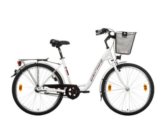 Gepida Alboin 300 CRS alu 28-as férfi cross kerékpár, 24s, 48 cm, fekete-narancs