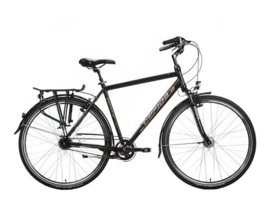 Gepida Reptila 100 acél 26-os női városi kerékpár, 3s (agyváltós), 45 cm, fekete