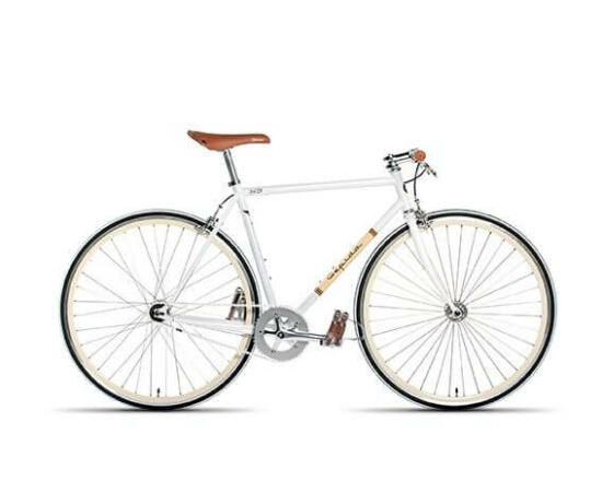 Gepida S3 acél single speed kerékpár, 58 cm, 1s, fehér