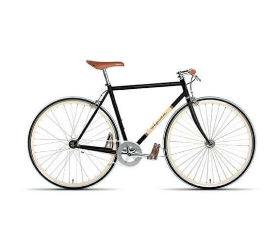 Gepida S3 acél single speed kerékpár, 58 cm, 1s, fekete
