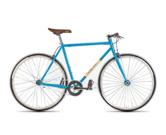 Gepida S3 acél single speed kerékpár, 54 cm, 1s, kék