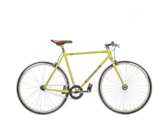 Gepida S3 acél single speed kerékpár, 58 cm, 1s, sárga