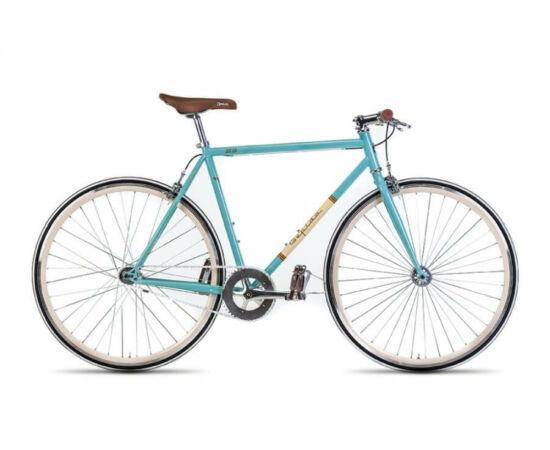 Gepida S3 acél single speed kerékpár, 58 cm, 1s, türkiz